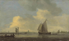 Landscape with Huis te Merwede and fishermen