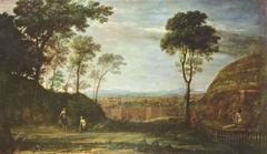 Landscape with Noli ne tangere Scene