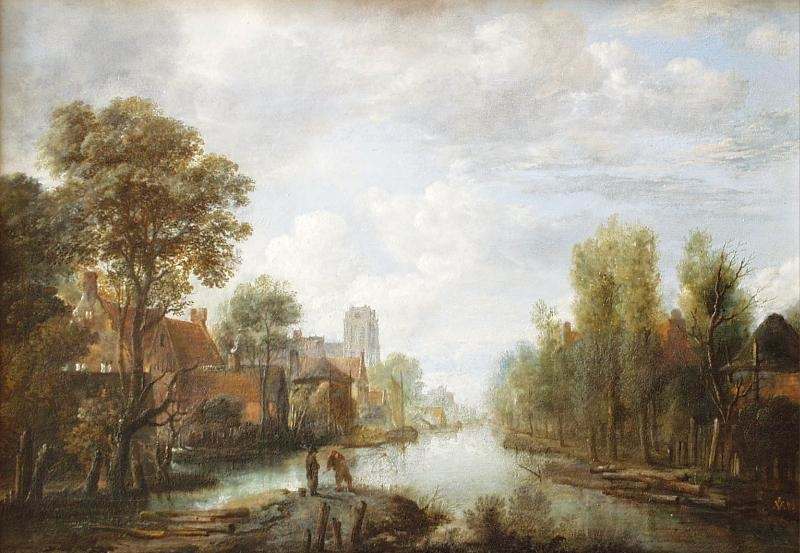 Landscape with waterway