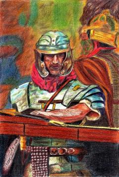 Legionario esperando la batalla