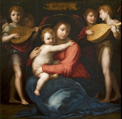 Madonna and Child with Four Angels