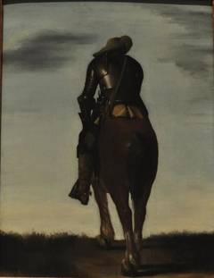 Man on Horseback Seen From Behind
