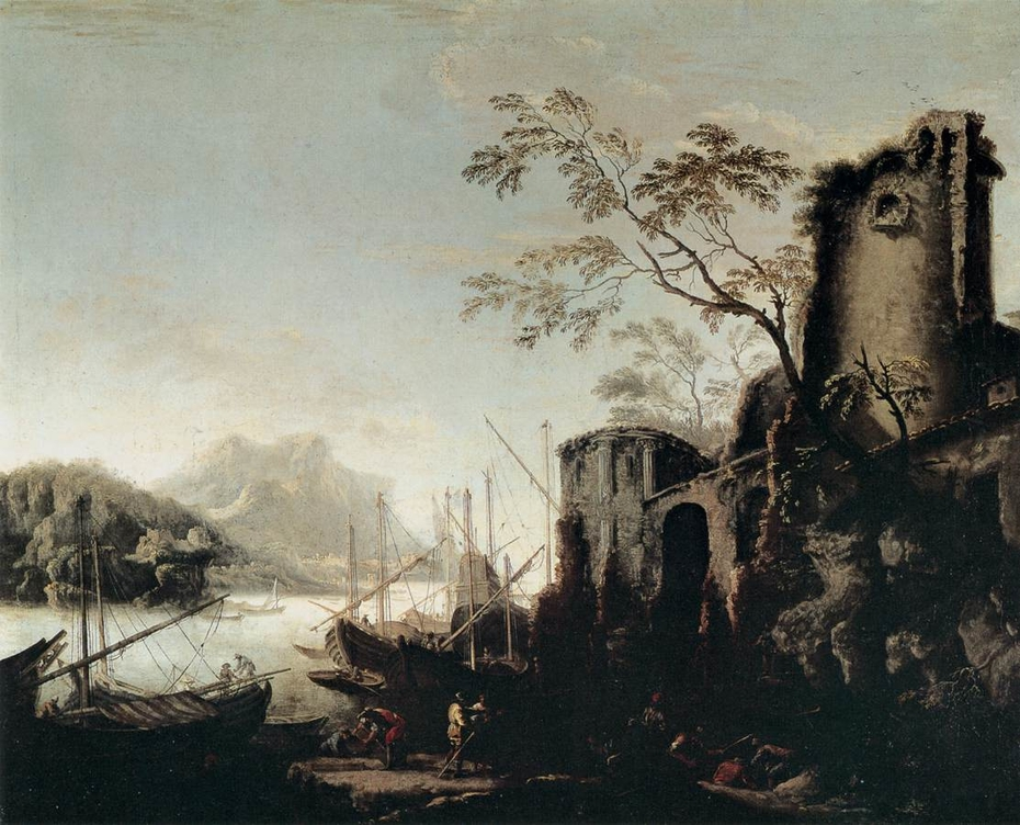 Marine Landscape with Towers