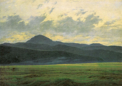 Mountain landscape in Bohemia