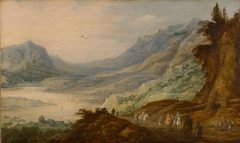 Mountain landscape with river valley