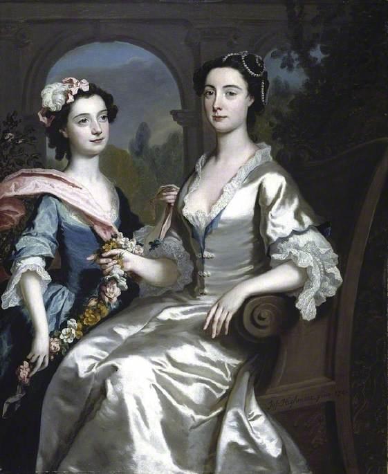 Mrs Elizabeth Birch and her daughter