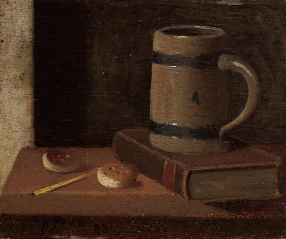 Mug, Book, Biscuits, and Match