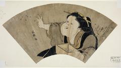 Otafuku Throwing Black Beans to Chase Away the Demons on New Year's Eve (Senmen Otafuku zu)