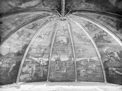 Painted ceiling vault with the Last Judgement
