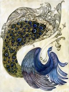 Pair Of Peacocks (series)