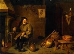 Peasant Holding an Empty Mug