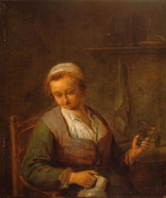Peasant Woman Drinking