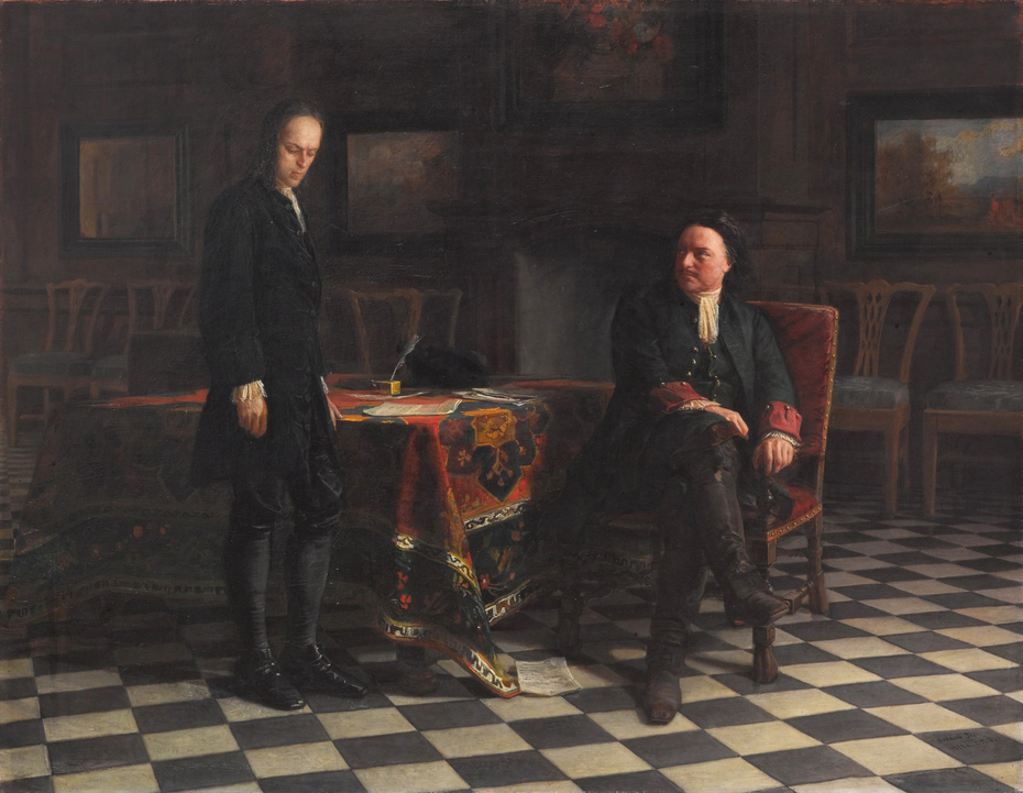 Peter the Great Interrogating the Tsarevich Alexei Petrovich at Peterhof