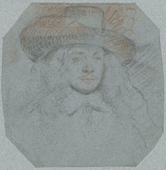 Portetbuste van een (Spaanse?) heer met een grote hoed