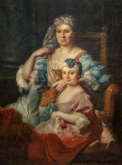 Portrait de Madame Poulhariez et de sa fille Anne - Pierre Hubert Subleyras