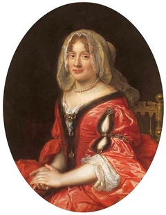 Portrait of a woman in Polish costume, most probably Claudine Françoise Mignot, wife of John Casimir Vasa
