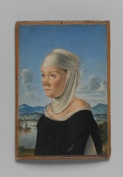 Portrait of a Woman, Possibly a Nun of San Secondo; (verso) Scene in Grisaille