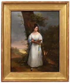 Portrait of a Woman Sketching en plein-air
