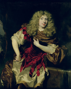 Portrait of a Young Man in Antique Fancy Dress