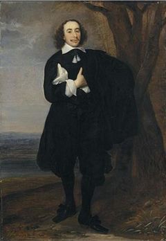 Portrait of a Young Man Standing in a Landscape