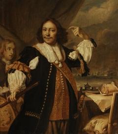 Portrait of Aert Jansz. Van Nes (1626-1693), copy in brunaille, probably preparatory sketch for print by Lambert Visscher
