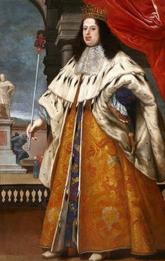 Portrait of Cosimo III de' Medici in grand ducal robes.