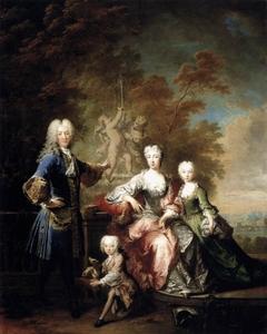 Portrait of Count Ferdinand von Plettenberg with his Family