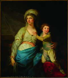 Portrait of Teresa Potocka née Ossolińska with uncle Alfred