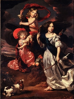 Portrait of Three Children as Ceres Ganymede and Diana