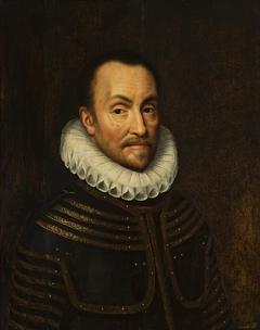 Portrait of William the Silent in armor.