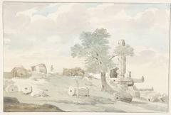 Resten van Herculestempel binnen muren van oude Agrigento