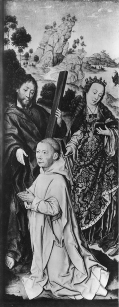 Saint Andrew and Saint Catherine with Donor