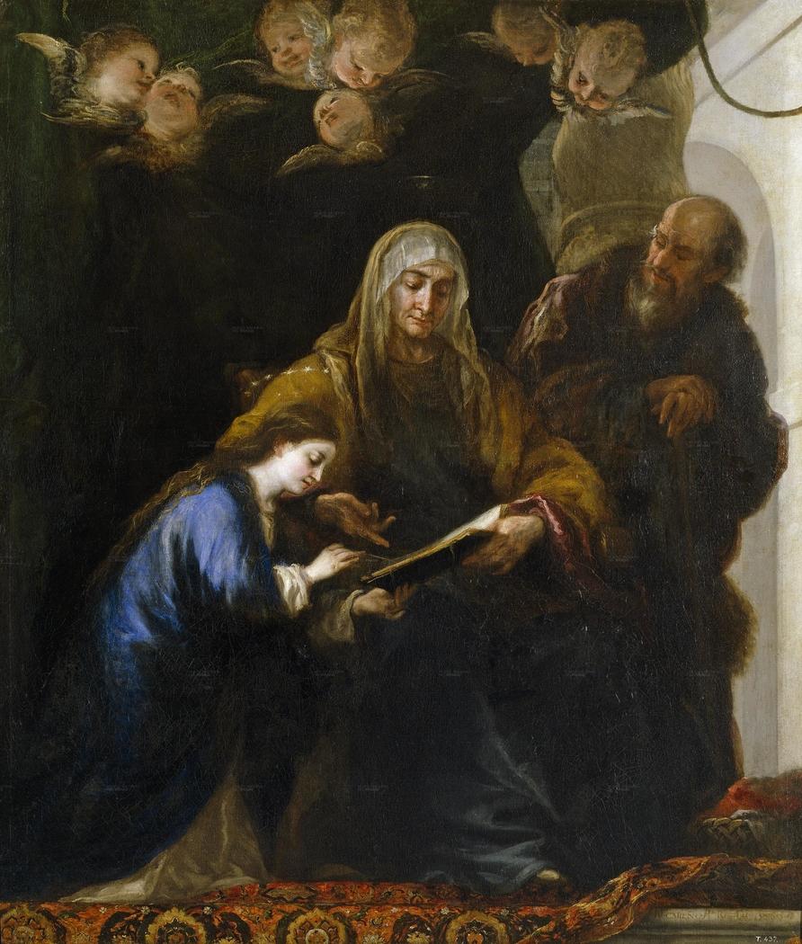 Saint Anne teaching the Virgin to read