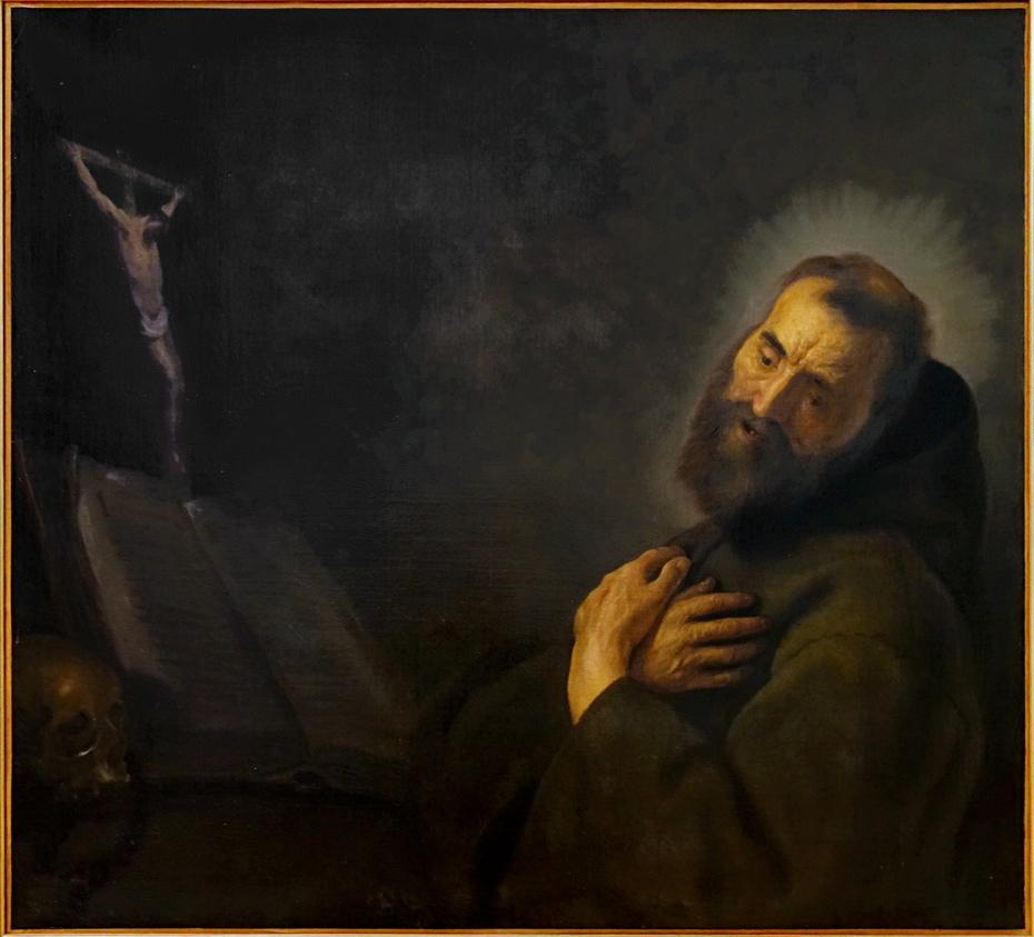 Saint François en prières
