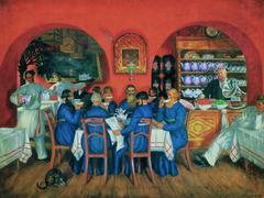 Salon de thé à Moscou