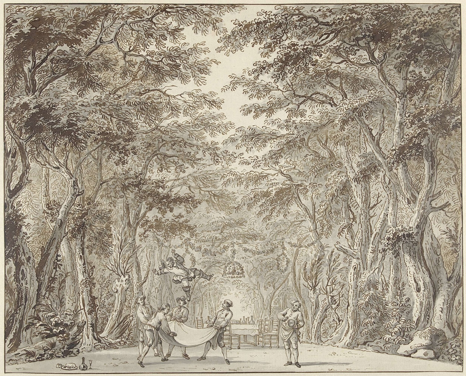 Scène uit het toneelstuk Don Quichot op de Bruiloft van Camacho