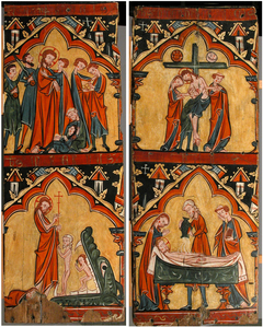 Scenes from the Life of Christ: Arrest of Christ, Christ in Limbo; Descent from the Cross, Preparation of Christ's Body for His Entombment