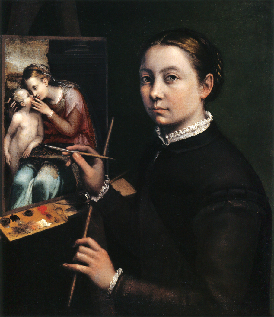 Self-portrait at the Easel Painting a Devotional Panel