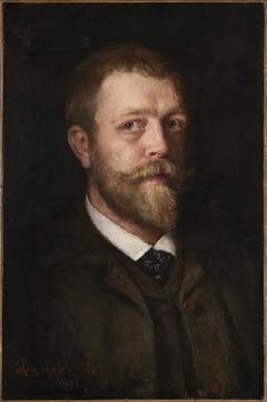 Self-portrait, Hans Olaf Halvor Heyerdahl