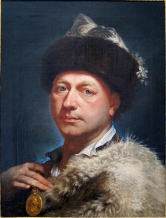 Self-portrait with Medal of Benoît XIV