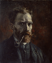 Self-Portrait with Pipe