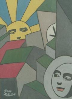 Serie Soles y Lunas. Sol y Luna VI