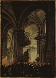 Sermon d'un capucin dans l'église Saint-Roch