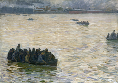 Shipyard Workers Returning Home on the Elbe