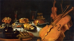 Still-life with musical instruments