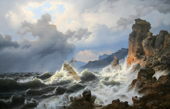 Storm at Sea off the Norwegian Coast