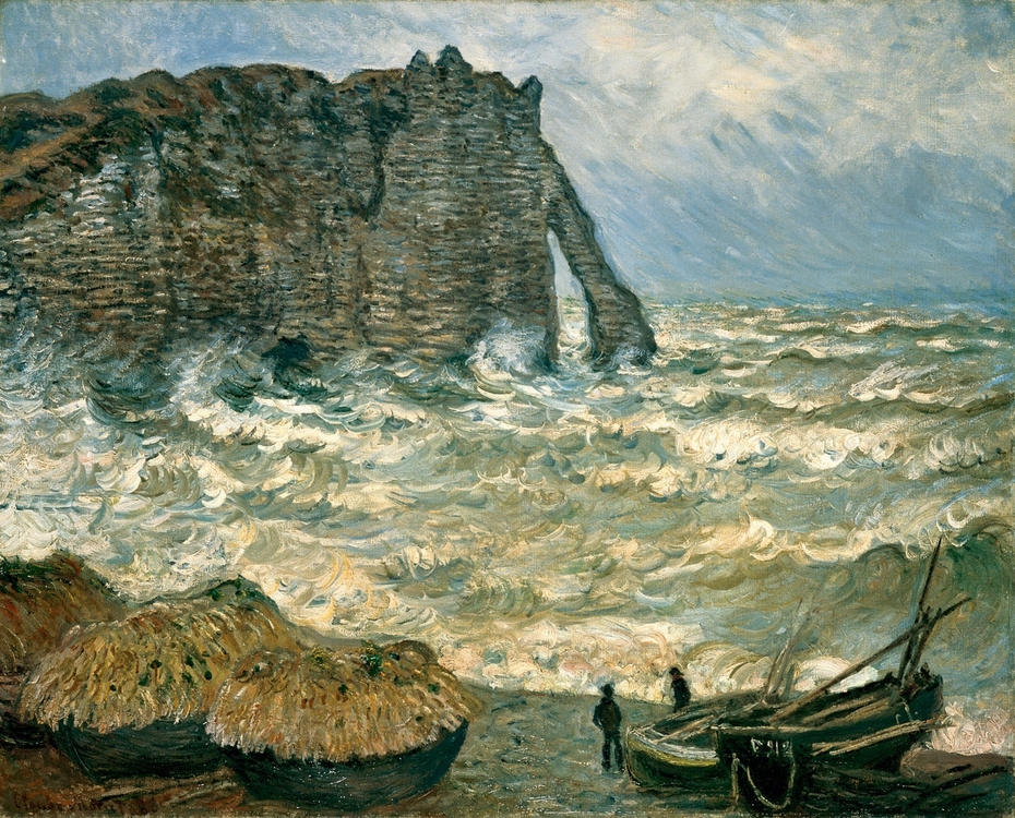 Stormy Sea in Étretat