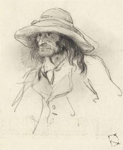 Studie van een man met lang haar
