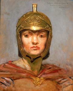 "Study for Mural for Appellate Court Building, New York; ""Statute Law"", Helmet for Figure of ""Force"""