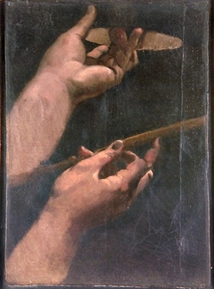 Study of two hands of Louis XIII